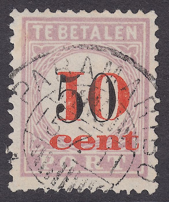Suriname 1911 - Postage due stampss Aid issue, in type III with first day cancellation - NVPH P16
