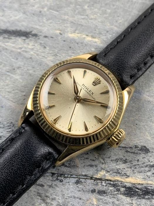 Rolex - Oyster Perpetual Automatic Lady 18K Gold - 6619 - Damen - 1950/60