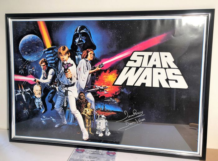 Star Wars  - Dave Prowse (Darth Vader) - Autograph, Poster, Signed, with Coa, Framed