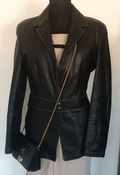 Emporio Armani - Leather jacket - Size: EU 42 (IT 46 - ES/FR 42 - DE/NL 40)