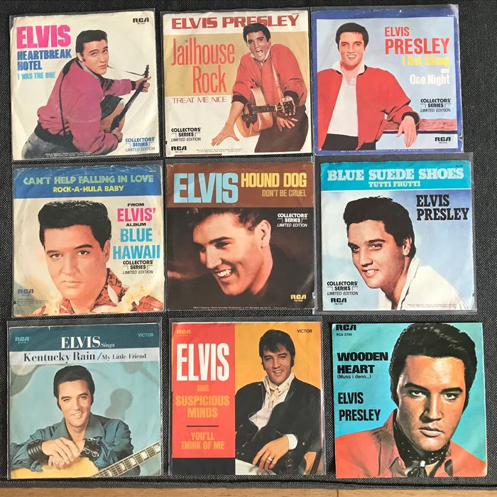 Elvis Presley - Diverse titels - Multiple titles - 45 toerenplaat (Single) - 1977/1977