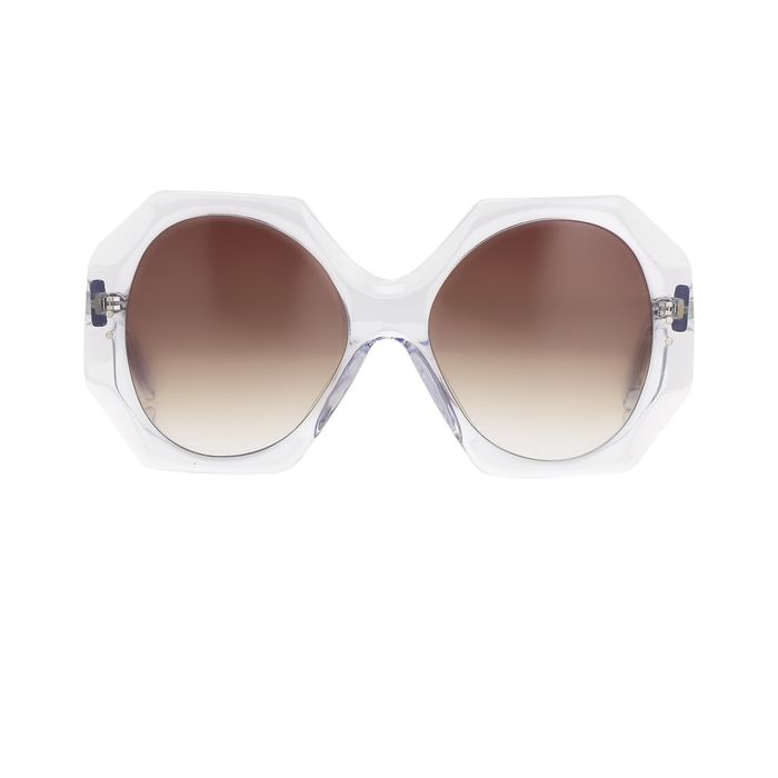"""Charles Anastase - Oval Clear with Pink Graduated Lenses CA6C3SUN """"NO RESERVE PRICE"""" Sunglasses"""