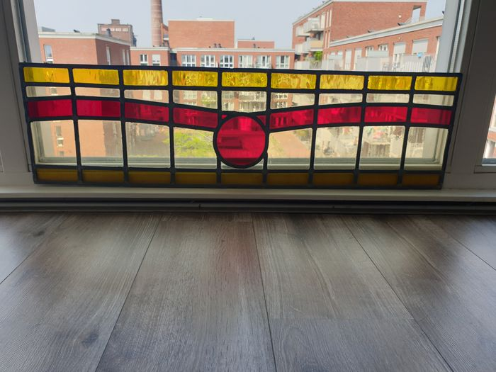Stained glass front window in Art Deco Style - Glas (glas-in-lood)