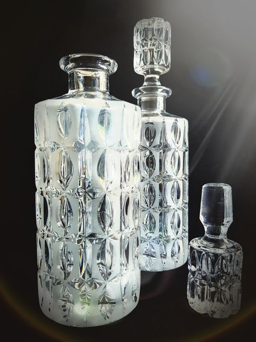 Nachtmann - Whiskey Carafe in Matt and Clear Crystal. (2)