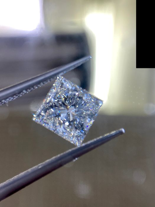 1 pcs Diamond - 1.50 ct - Princess - I - SI1