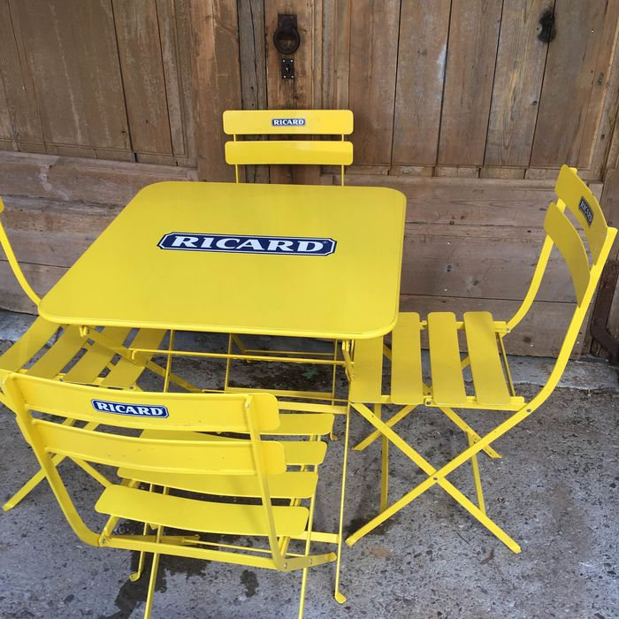Ricard  - Table and 4 chairs - Metal
