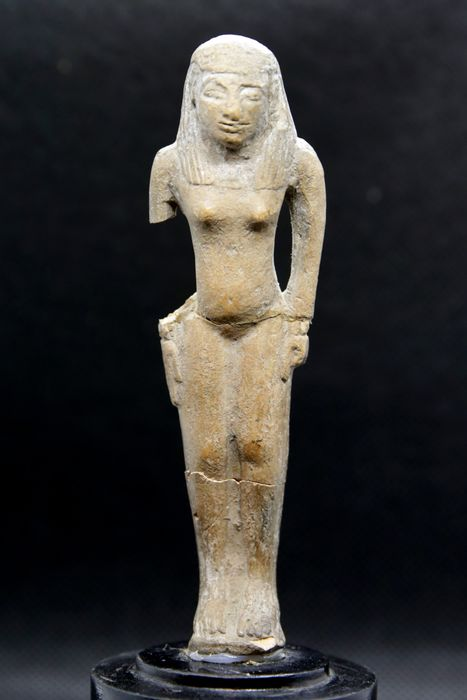 Ancient Egyptian Earthenware Concubine for Tomb - 11×2×3 cm