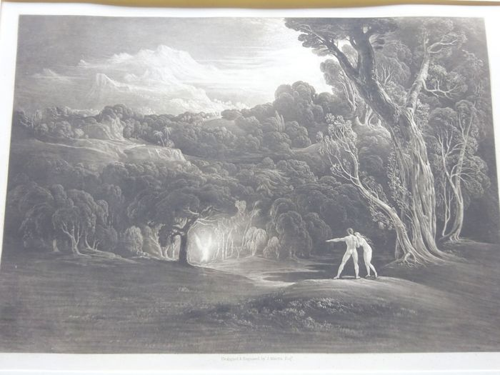 John Martin(1789-1854) - Paradise with the approach of archangel Raphael