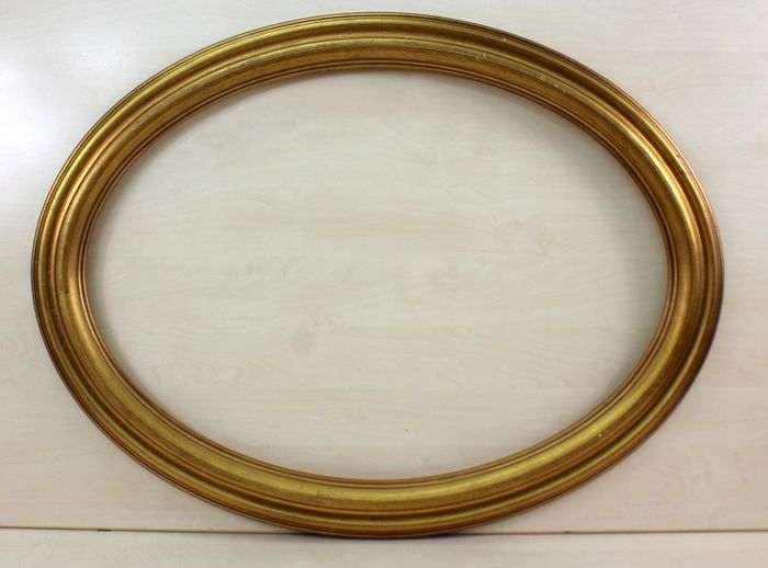 Oval gold plated frame - Goldplate, Wood