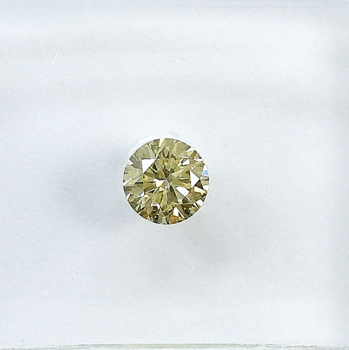 Diamond - 0.21 ct - Brilliant - Natural Fancy Light Brownish Yellow - SI1