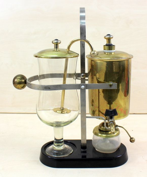 Portuguese coffee maker with brass reservoir