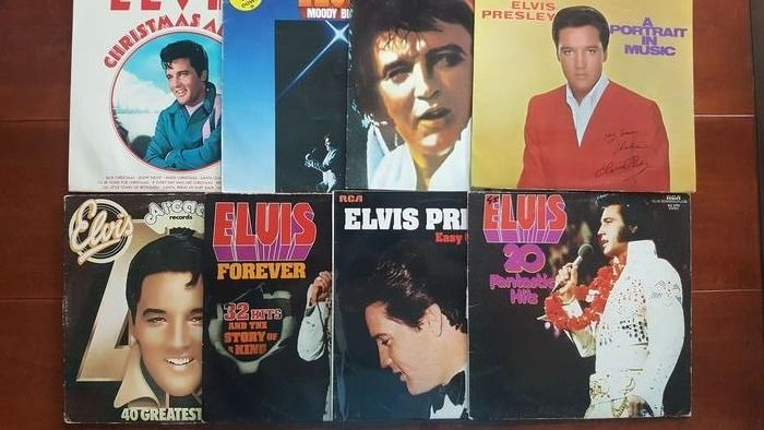 Elvis Presley - 8 x LP album including 2 x double album - Múltiples títulos - 2xLP álbum (álbum doble), Álbum LP - 1970/1979
