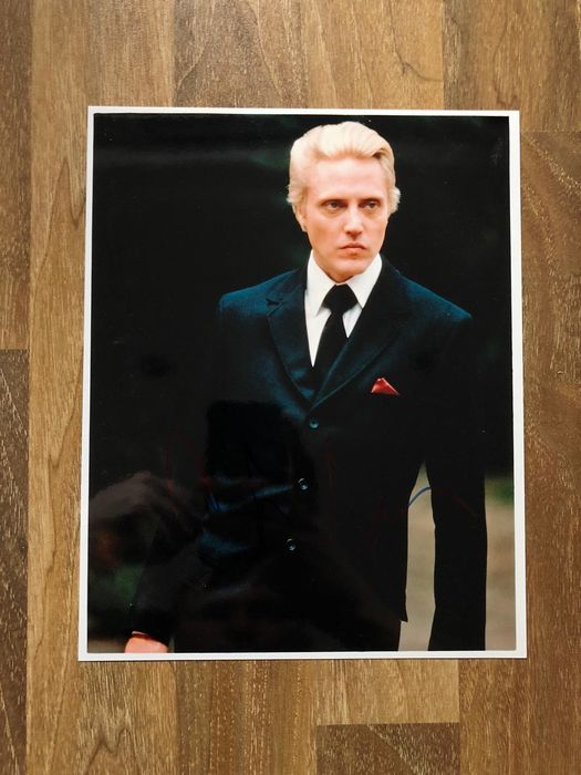 James Bond - A View to a Kill - Christopher Walken (Zorin)  - Foto, Handtekening Signed with Coa