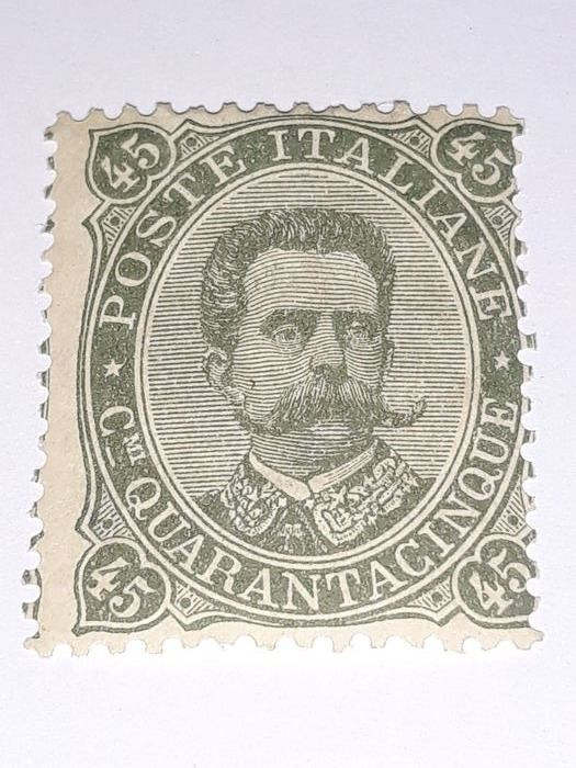 Italy 1889 - 45 cents olive green - Sassone N. 46