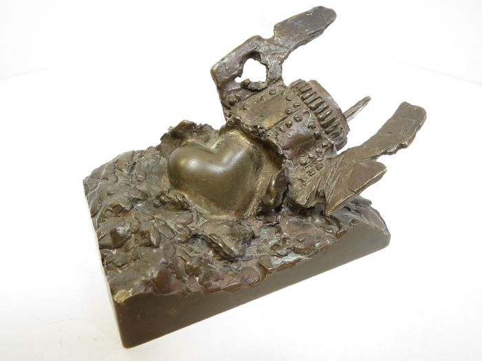 "Unknown master - ""Broken heart"" - Sculpture (1) - Bronze"