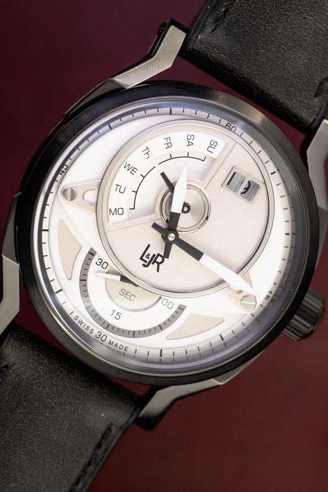 """L&Jr - Day and Date White Dial with Grey Strap - S1301 """"NO RESERVE PRICE"""" - Men - 2011-present"""