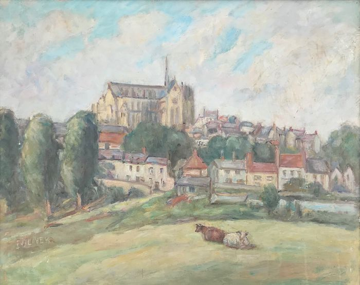 E. Oliver - Arundel Cathedral on a sunny day
