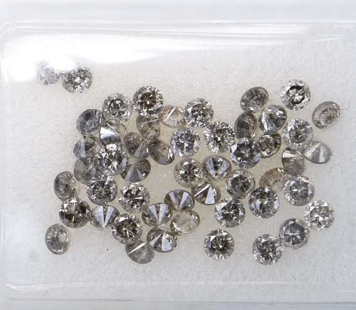 51 pcs Diamant - 1.40 ct - Briljant, Rond - Mix Light Colors - VS1       I3     ** No Reserve Price **