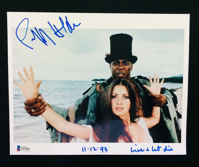 James Bond - Live and let Die - Geoffrey Holder (Baron Samedi) - Autograf, Foto, Signed, with Coa