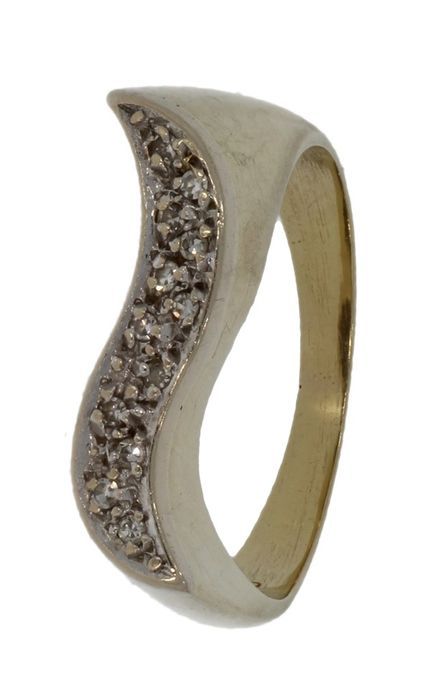 Design  - 14 kt. Yellow gold - Ring - 0.10 ct Diamond