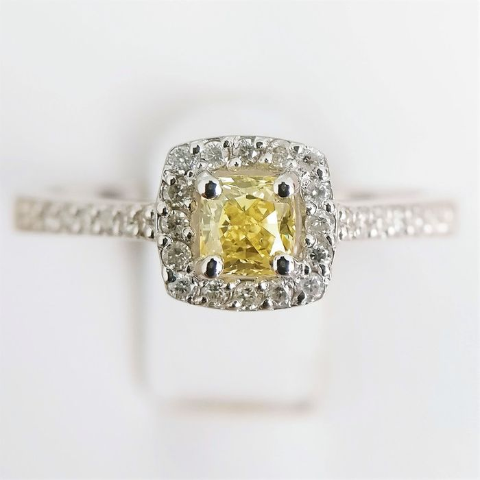 18 quilates Oro blanco - Anillo - 0.24 ct Diamante - Diamante