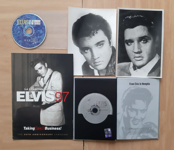 Elvis Presley - Multiple titles - Book, CD's, Magazine, Photos - 1997/2010