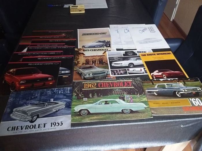 Brochures / catalogues - Chevette, Monte Carlo, People carriers, Caprice/Impala, Camaro, Celebrty, Cavelier, Citation, etc - Chevrolet