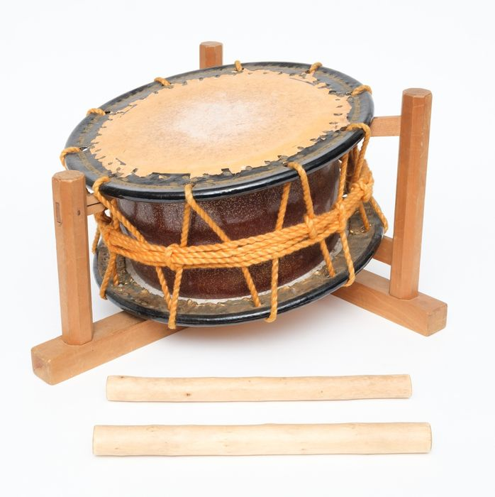 Taiko Drum - Holz, Leder - Shimedaiko with drum skins in perfect condition  - Japan - Shōwa Zeit (1926-1989)
