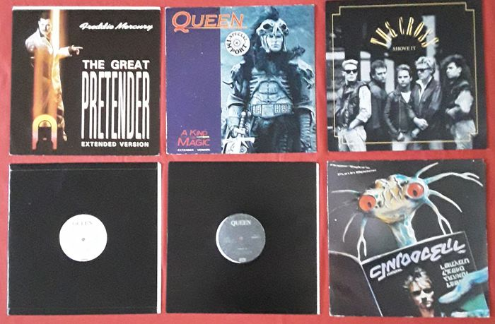 """Queen & Related, Freddie Mercury / The Cross / Roger Taylor. - Multiple artists - Multiple titles - LP's, Maxi single 12""""inch - 1981/1987"""