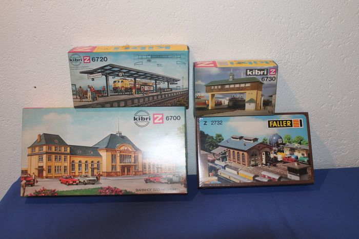 Kibri Z - 2732/6700/6720/6730 - Scenery - 4 various kits: Station Bad-Nauheim, loc-sheet and more - DB