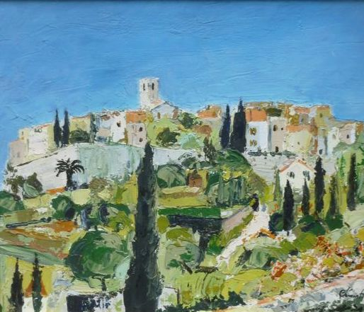 Paul Clement (1905 - 1990) - Village de provence