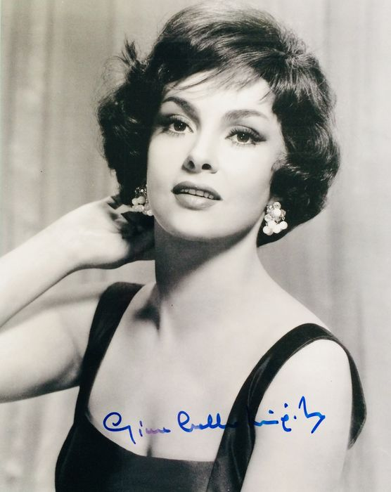Gina Lollobrigida - Autograf, Foto Signed with Coa