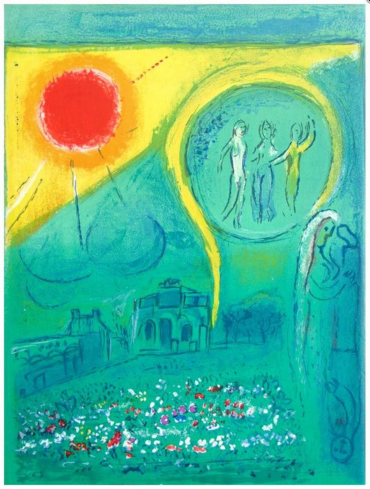 Marc Chagall - The Carrousel of the Louvre 1954