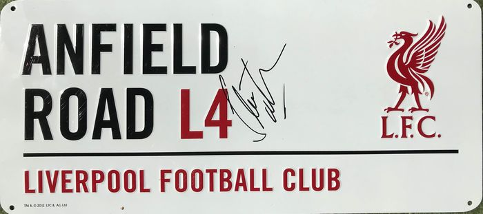 Liverpool FC - European Football League - Steve McMahon - Street Sign