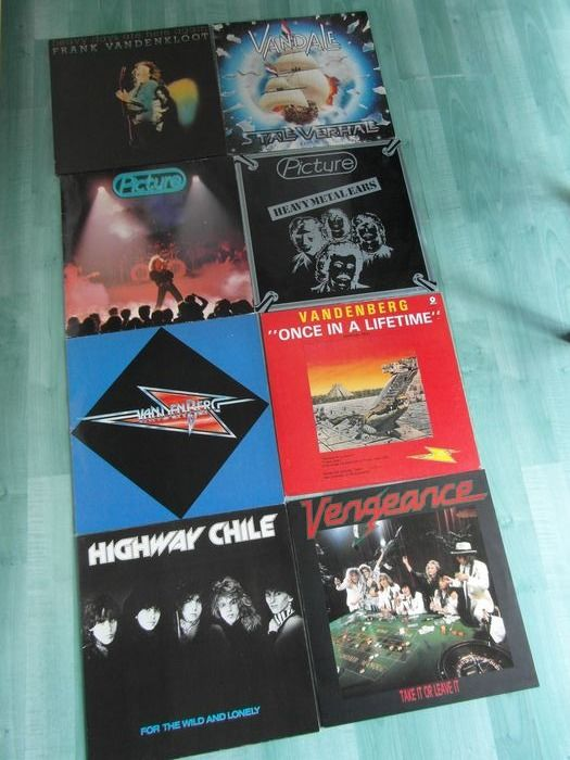 Various Artists/Bands in Hardrock-Heavy Metal, Dutch Hardrock - Multiple artists - 7 different titels, and 1 - 12inch - Multiple titles - LP's - 1978/1984
