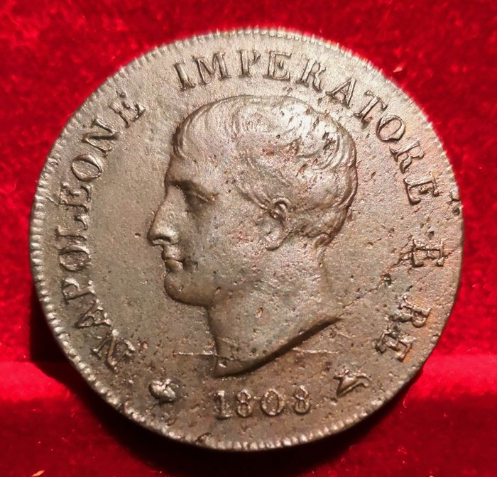 Italy - Kingdom of Italy - 1 Soldo 1808 - Milano - Napoleone I Bonaparte Re d'Italia (1805-1814) - Copper