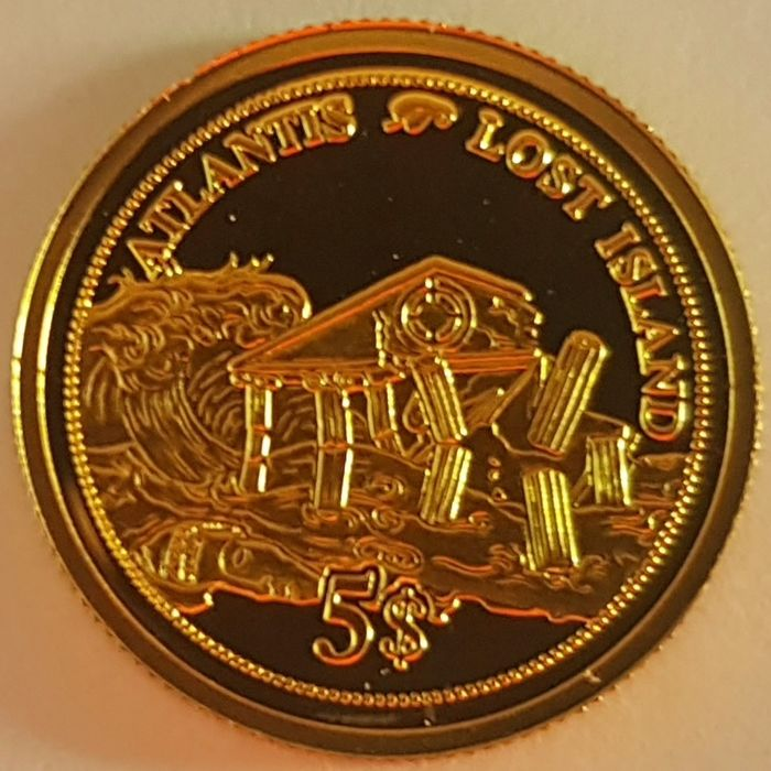 Fiji - 5 Dollar 2006 'Atlantis - Lost Island' - with a Certificate of Authenticity - Goud
