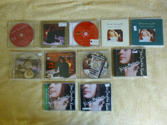 Alanis Morissette - cd-singles from Alanis Morissette - Multiple titles - CD's, Limited edition, Official merchandise memorabilia item - 1995/1999