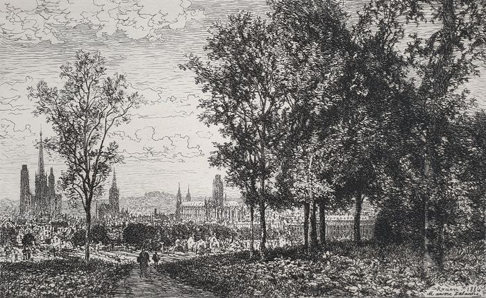 France, Rouen; Maxime Lalanne (1827-1886) - Rouen from the Country - 1881-1900