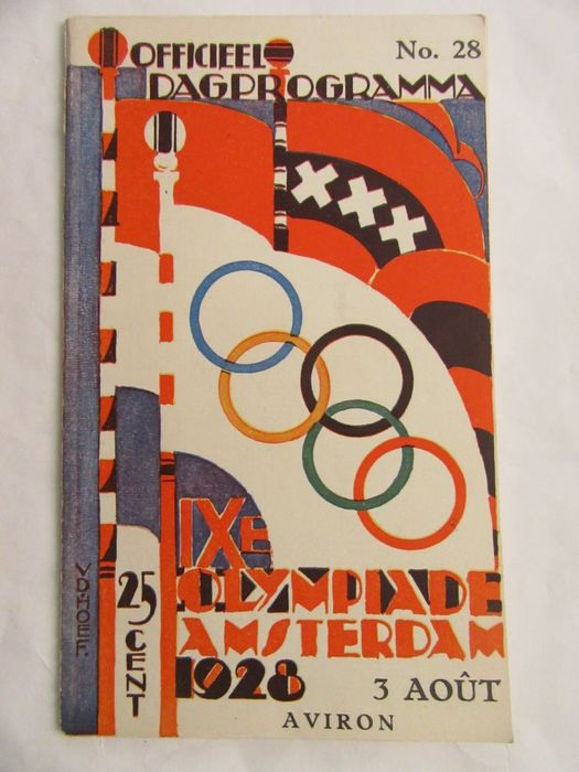 Olympic Games - Official Day program - 1928 - Aviron (rowing)