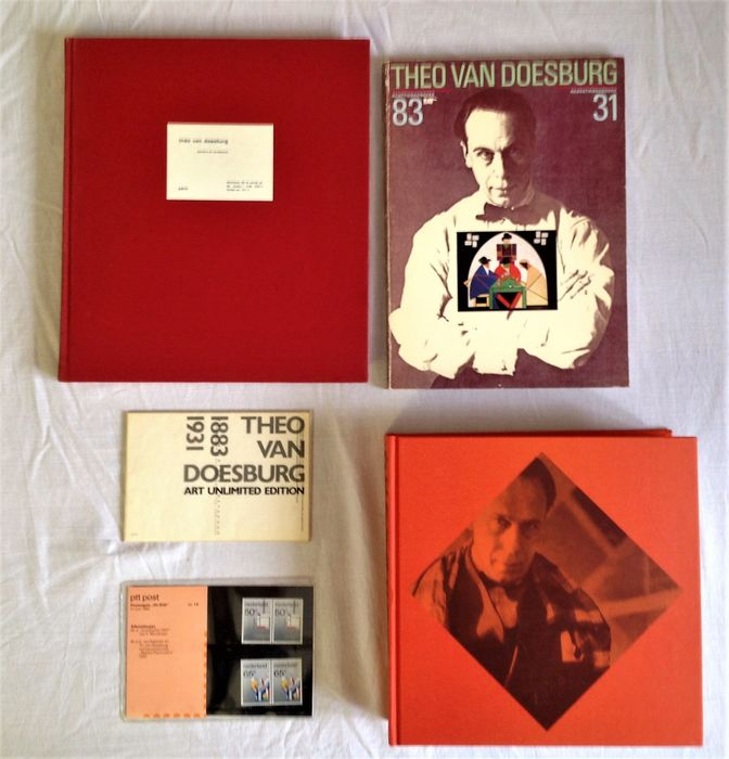 Theo van Doesburg  - Lot with 3 books and ephemeras - 1983/2000