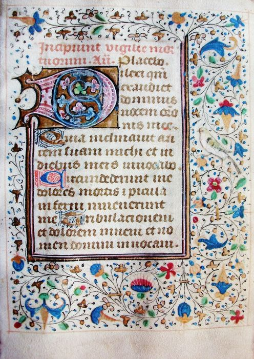 (French Atelier) - Manuscript; One illuminated leaf from a book of hours - XV century