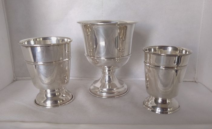 Monticello Golf Club tournaments cups (3) - .925 silver - Guanziroli - Como  - Italy - 21st century
