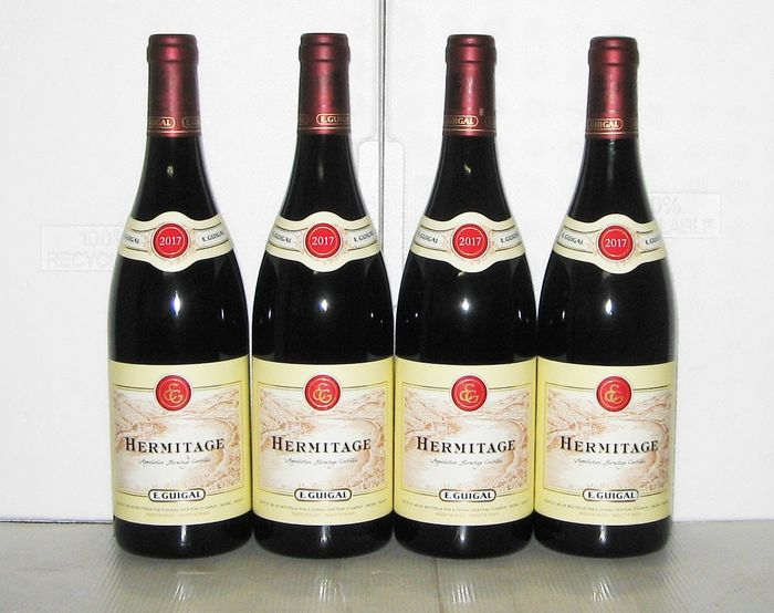 2017 Hermitage (Red) - Domaine E. Guigal - Rhone - 4 Bottles (0.75L)