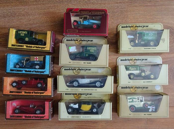 Matchbox - 1:43 - Lot of 11 Models of Yesteryear
