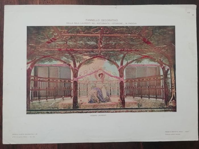 Aristide Sartorio e Cesare Laurenti - prints of panels for the Storione restaurant in Padua and friezes in the new parliamentary hall of Montecitorio (6)