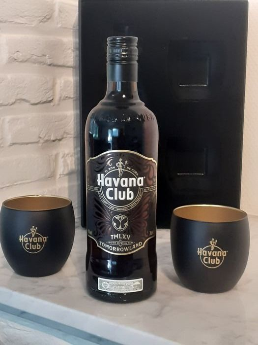Havana Club 12 years old - Tomorrowland TMLXV set - b. 2019 - 70cl