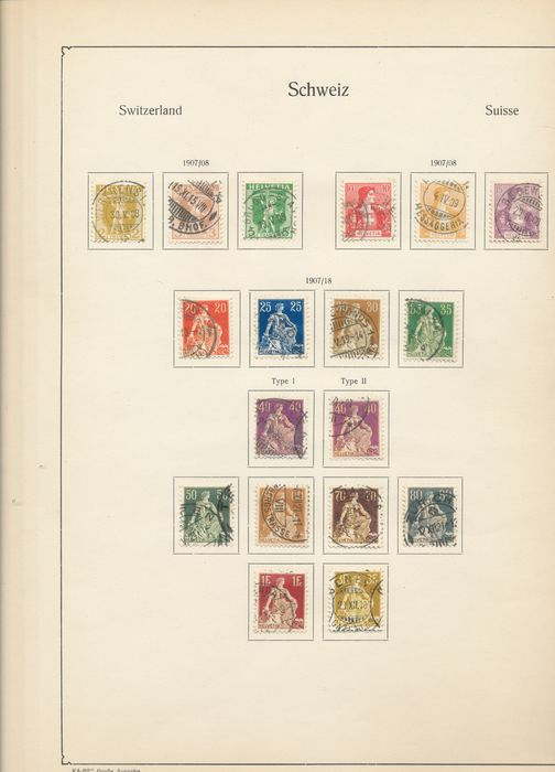 Switzerland 1909/1945 - Elaborate collection with a great BOB section