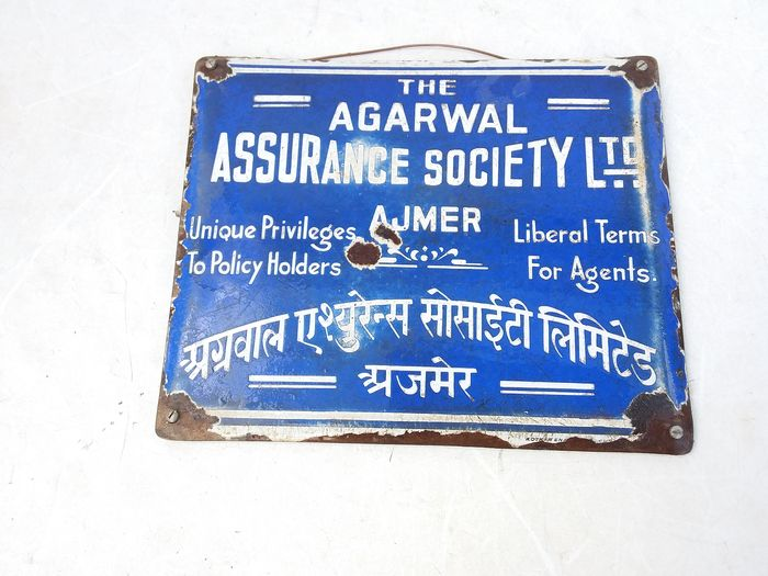 Old board assurance society. - Enamel