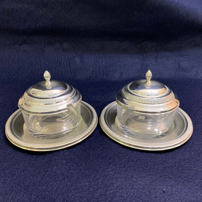 Pair of Empire Cheesemakers - .800 silver - Italy - Late 20th century